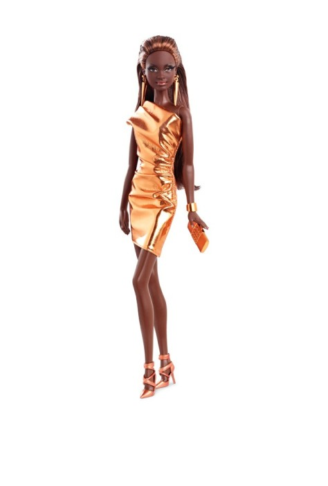 City Shine Barbie Doll - Bronze Dress