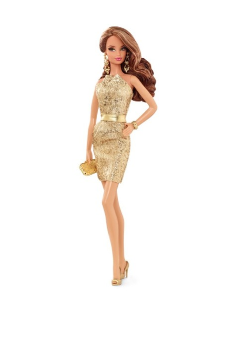 City Shine Barbie Doll - Gold Dress