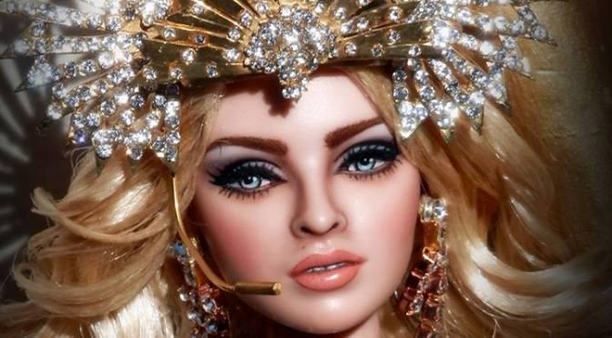 Madonna en la Super Bowl OOAK Doll, de OskArt Dolls