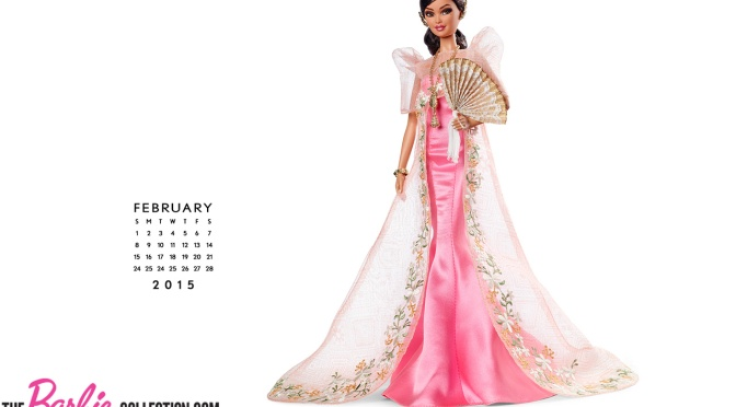 Calendario oficial de Barbie Collector: Febrero 2015