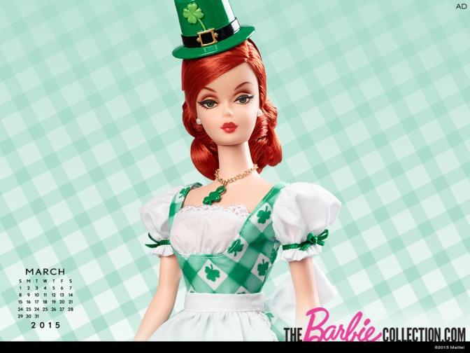 Calendario oficial de The Barbie Collection: Marzo 2015
