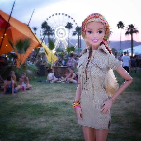 Barbie también estuvo en Coachella