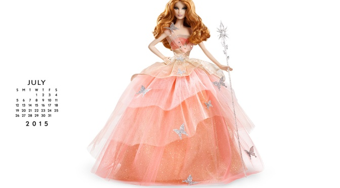 Calendario oficial de The Barbie Collection: Julio 2015