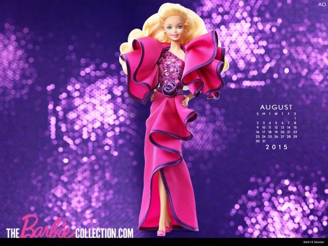 Calendario oficial de The Barbie Collection: Agosto 2015