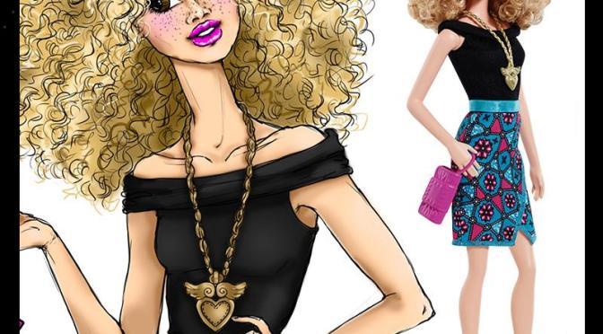 Las ilustraciones de Barbie de Carlyle Nuera