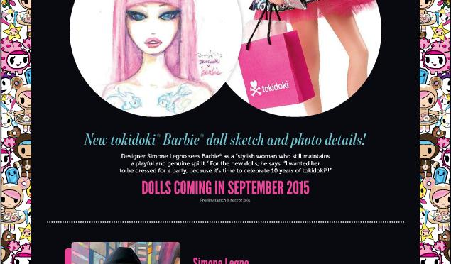 Así serán las nuevas Barbie Tokidoki según Simone Legno