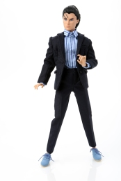 Miles Morgan Wearing Outfit Blue Suede Shoes