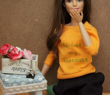 Martina y el cuerpo de Barbie más articulado