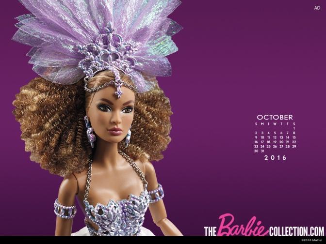 Calendario oficial de The Barbie Collection: octubre de 2016