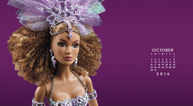 Calendario oficial de The Barbie Collection: octubre de 2016
