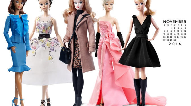 Calendario oficial de The Barbie Collection: noviembre de 2016