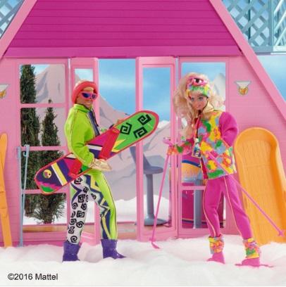 Nieva, pero Barbie está preparada para disfrutarlo