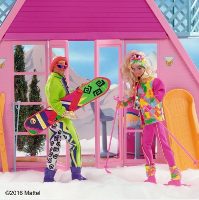 barbie y ken nieve