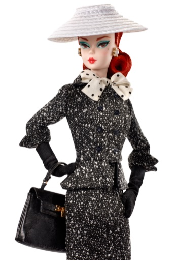 Black & White Tweed Suit Barbie Doll 1