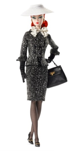Black & White Tweed Suit Barbie Doll