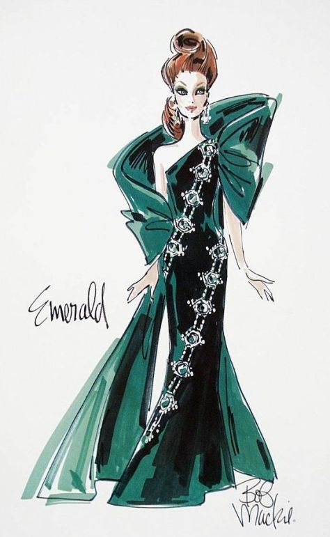 emerald-bob-mackie-barbie-sketch