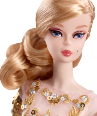 Blush & Gold Cocktail Dress Barbie Doll 3