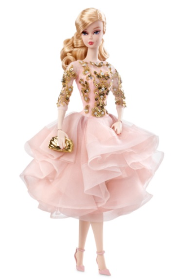 Blush & Gold Cocktail Dress Barbie Doll