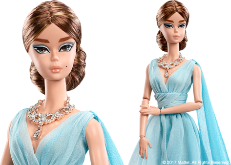 Blue Chiffon Ball Gown Barbie Doll 1