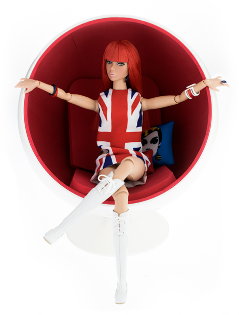 British Invasion! Poppy Parker doll chair