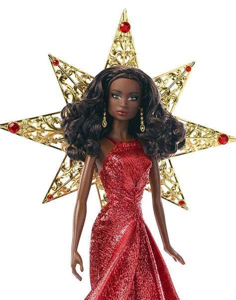 Barbie 2017 Holiday Black Hair 1