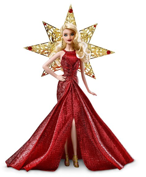 Barbie 2017 Holiday Doll Blonde Hair 1