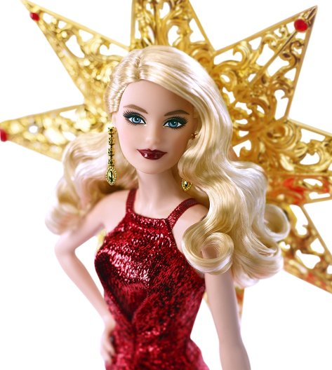 Barbie 2017 Holiday Doll Blonde Hair 3