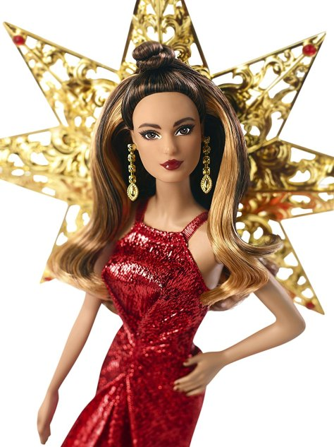 Barbie 2017 Holiday Doll Brunette 1
