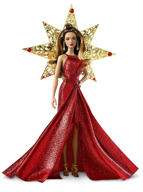 Barbie 2017 Holiday Doll Brunette 2