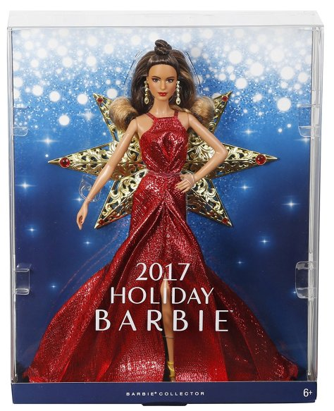 Barbie 2017 Holiday Doll Brunette 4