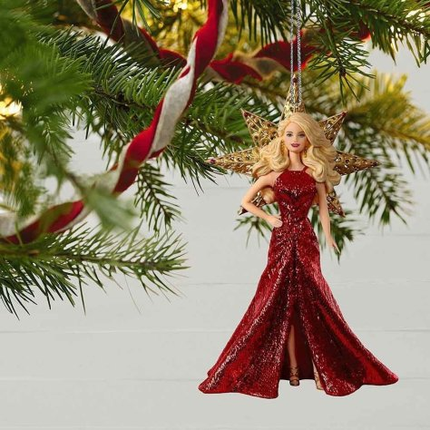 2017 holiday ornament barbie