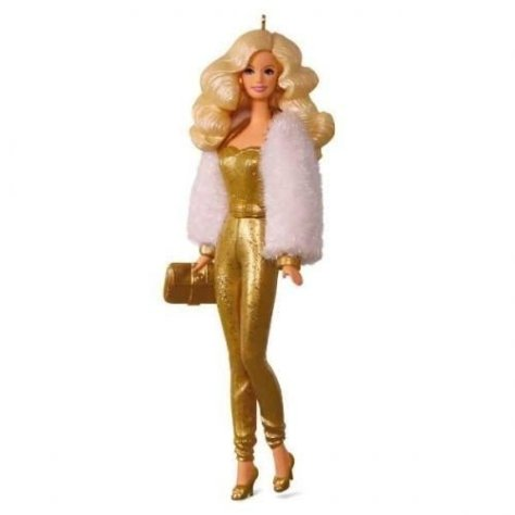 golden barbie ornament