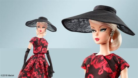 BFMC Elegant Rose Cocktail Dress Doll