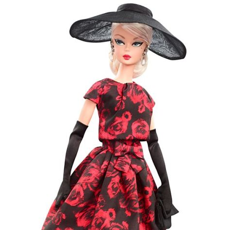 Elegant Rose Cocktail Dress Doll 1