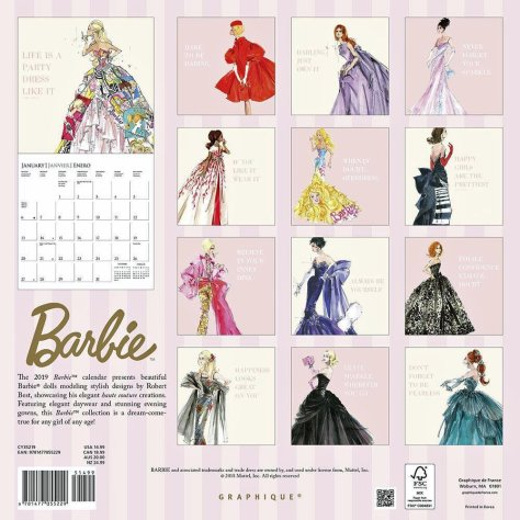 graphique calendar barbie posterior