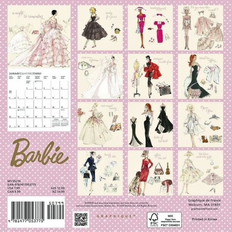 grapiche calendar Barbie 2019