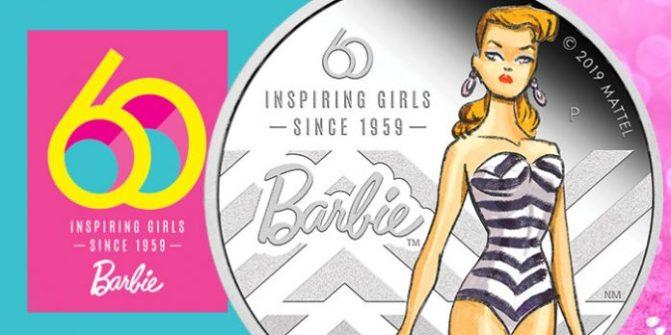 60 años de Barbie en una moneda