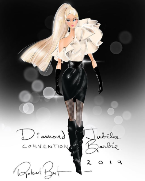 "Screenshot_2019-08-07 Robert Best en Instagram ""Diamond ✨Jubilee barbie from the 2019 National Barbie Doll Collector Conven[...]"