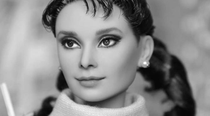 La última Barbie OOAK de Audrey Hepburn en Madrid